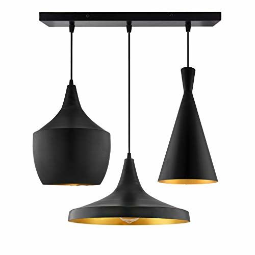 Homesake 3-Lights Linear Cluster Chandelier Modern Tri-Nordic Hanging Light, E27 Holder, Decorative, White, Urban Retro, Nordic Style, LED/Filament Bulb