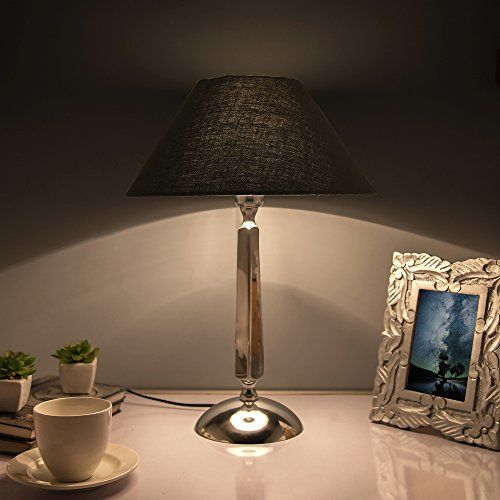 Homesake Classic Cubist Chrome Lamp with Black Shade
