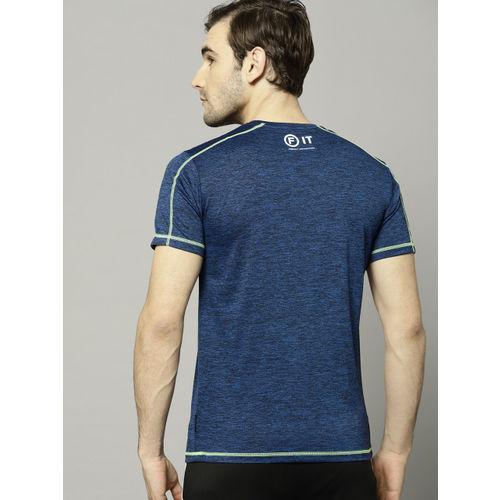 French Connection Men Navy Blue Solid Round Neck T-shirt