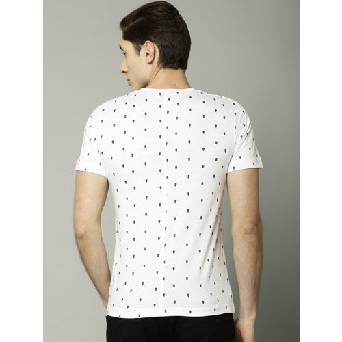 French Connection Men White Printed Round Neck T-Shirt