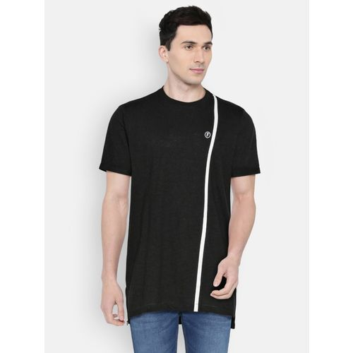 French Connection Solid Men Round Neck Black T-Shirt