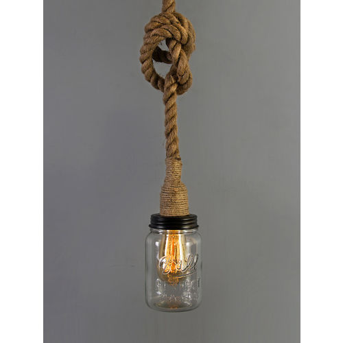 Homesake Beige Solid Hanging Wall or Ceiling Lamp