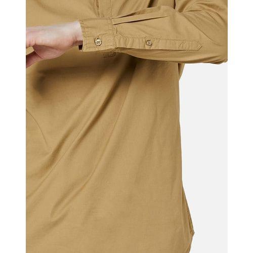 AJIO Slim Fit Cotton Shirt with Band Collar