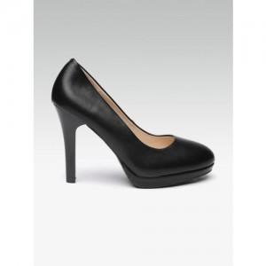 Elle Women Black Solid Stilettos