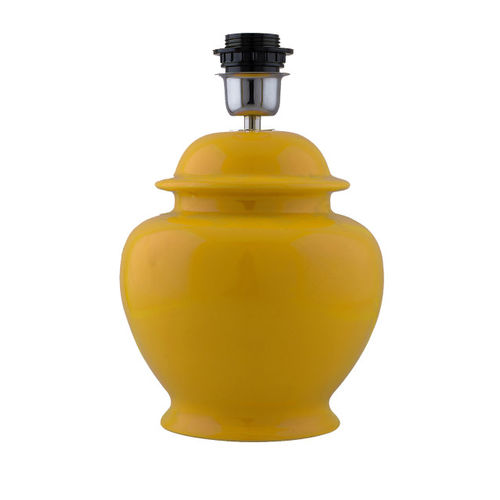 Homesake Yellow Solid Handcrafted Table Lamp with Shade