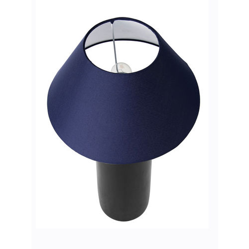 Homesake Black & Navy Blue Solid Handcrafted Table Lamp with Shade