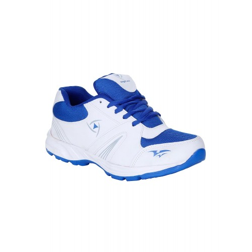 Kraasa White Synthetic Lace Up Sports Shoes