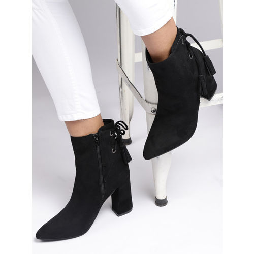 CORSICA Women Black Solid Heeled Boots