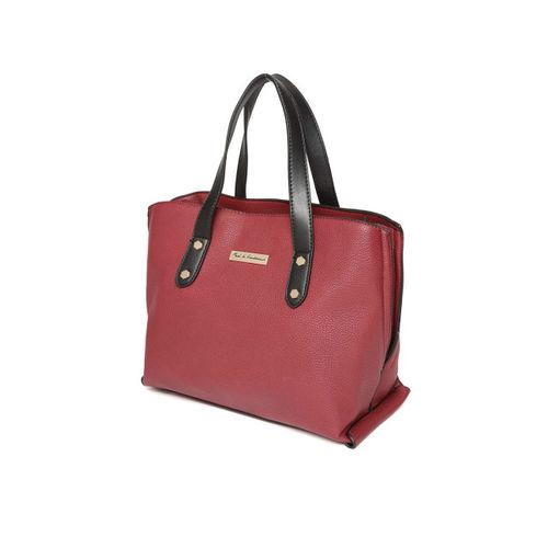 Mast & Harbour Red Solid Handheld Bag