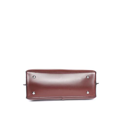 Mast & Harbour Burgundy Solid Handheld Bag