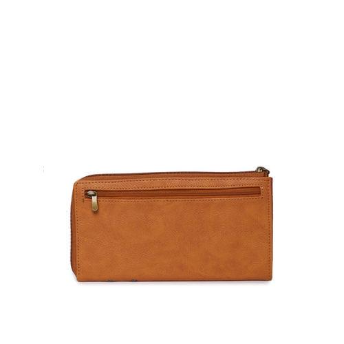 Baggit Women Orange Self Design Zip Around Wallet