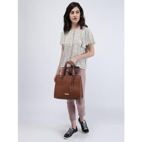 Mast & Harbour Tan Brown Solid Handheld Bag