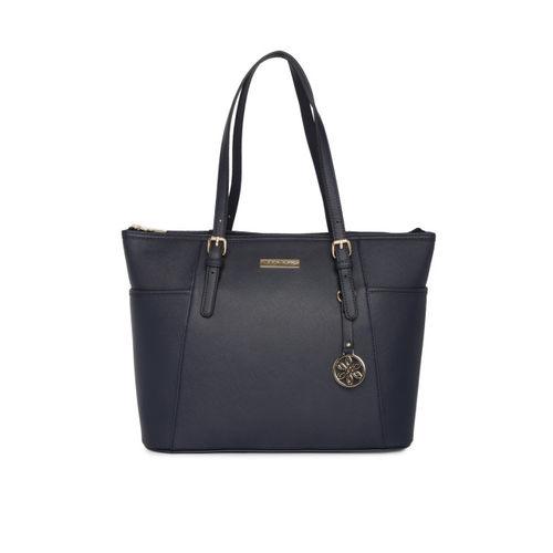 Mast & Harbour Navy Blue Solid Shoulder Bag