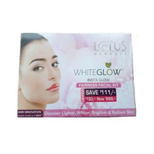 lotus herbals whiteglow instaglow fairness facial kit