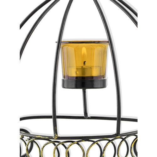 Homesake Black Cage-Shaped Candle Holder with 1 Cup