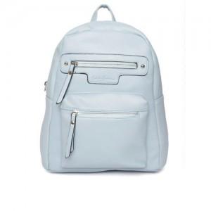 Mast & Harbour Women Blue Solid Backpack