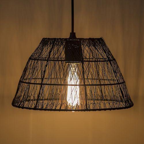 Homesake Metal Wire Mesh Lamp Shade Hanging Light, Ceiling Pendant Light, E27 Antique Black Pendants Ceiling Lamp