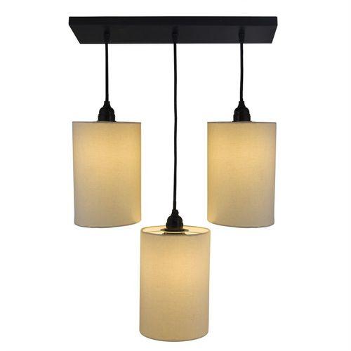 Homesake 3-lights Linear Cluster Chandelier Beige shade hanging Pendant Light, kitchen area and dining room light Pendants Ceiling Lamp