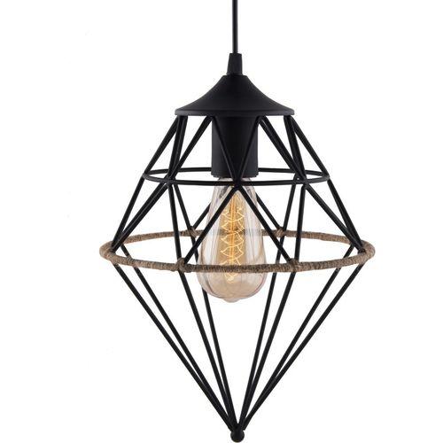 Homesake Vintage Edison Filament hanging hemp rope Gem , E27 hanging light, Industrial Retro light Pendants Ceiling Lamp
