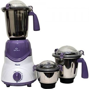 Bajaj Trio LV 600 W Mixer Grinder with 3 Jars - Lavender