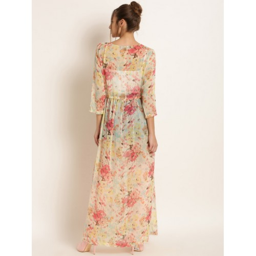 Harpa Multicoloured Polyester Floral Print Tie-Up Shrug