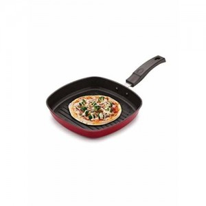 BMS Lifestyle Die Cast Non-Stick Grill Pan, Red
