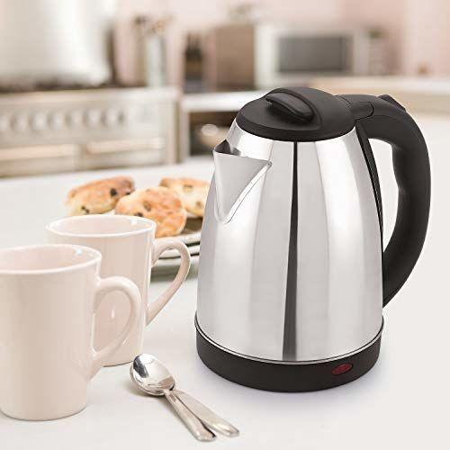 BMS LIFESTYLE 2 Liter Fast Boiling Tea Kettle Cordless,Stainless Steel Hot Water Kettel-Tea Kettle-Tea Pot-Hot Water Heater Dispenser Electric Kettle