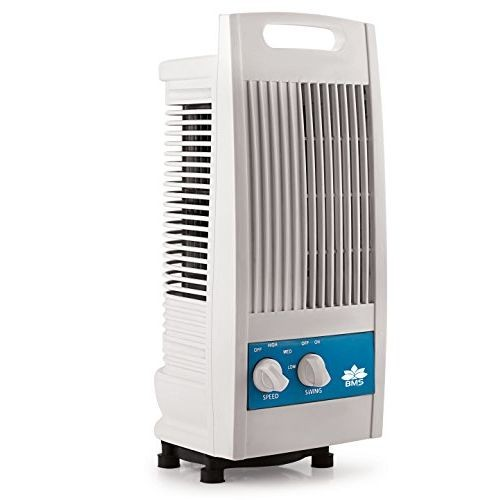 BMS Lifestyle TF-102 Portable Mini Oscillating Tower Fan with 90 Degree Rotating & Revolving Base (White)