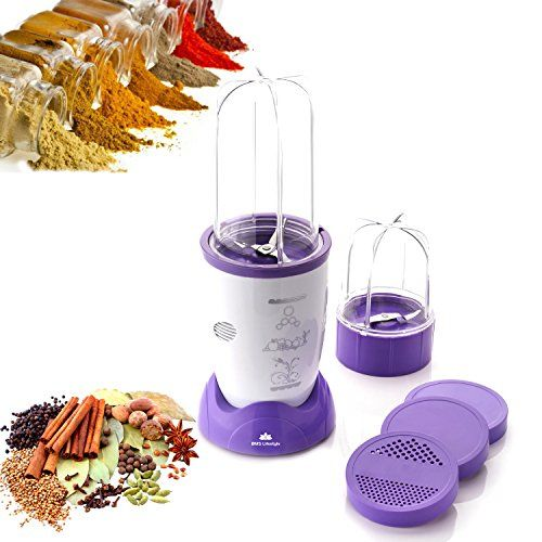 Bms Lifestyle Nutri 400Watt High-Speed Mixer - Purple & White