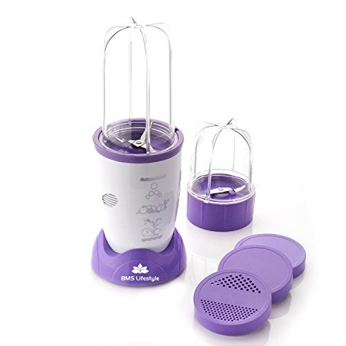 Bms Lifestyle Nutri 400Watt High-Speed Mixer - Purple & White
