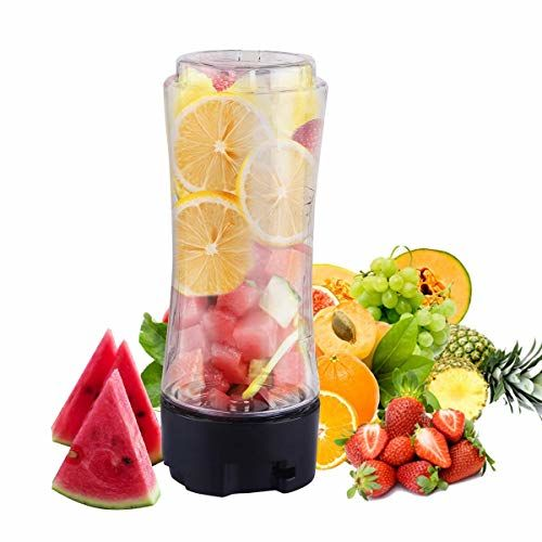 BMS Lifestyle BPA-Free ABS Personal Blender with 3 Tritan Travel Bottle for Smoothie and Milkshake with 6 Ice Cube and 3-Size, Ceramic Knife and 1 Cutter
