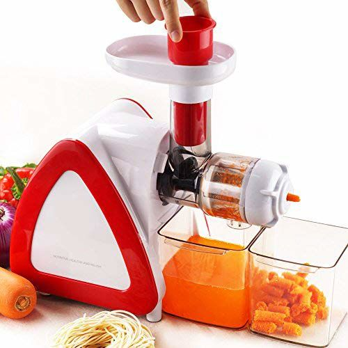 BMS LIFESTYLE Wide Chute Slow Masticating Juicer Extractor,Cold Press Juicer Machine for High Nutrient Fruit and Vegetable Juice