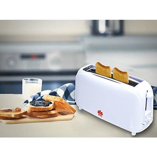 BMS LIFESTYLE KUNFT Compact Bread Two Slice Toasters with 7 Browning Settings Quickly Toasts Defrost Reheat Cancel Button Removable Crumb Tray,Light Weight & Long Slot