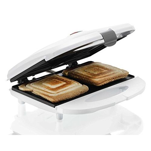 BMS Lifestyle Melissa Sandwich Maker 700 W with Non-Stick Coating, LED Indicator Lights and Cool Touch Handtag (White)