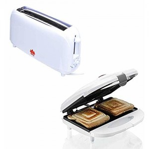 BMS Lifestyle Kitchen Combo of Melissa Sandwich Maker and Bread Two Slice Toaster