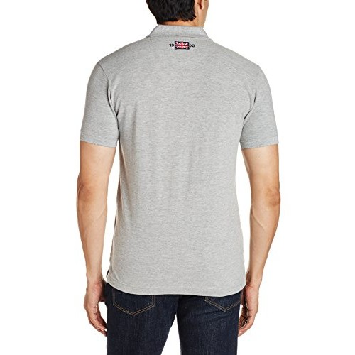 Pepe Jeans Gray Cotton Slim Fit Casual Polo T-Shirts