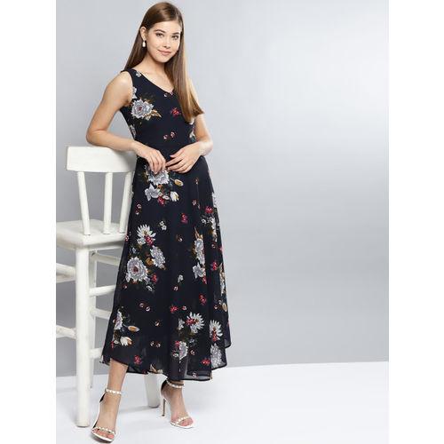 fdecdfc89 Buy Harpa Women Navy Blue Printed Maxi Dress online