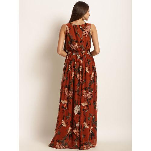 Harpa Women Brown Printed Maxi Dress