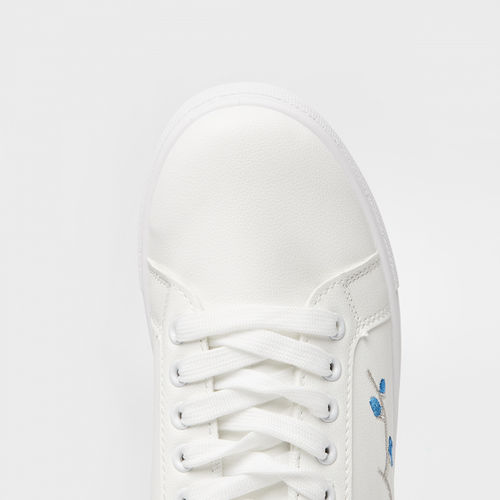 Ginger by lifestyle Embroidered Lace-Up Casual Shoes