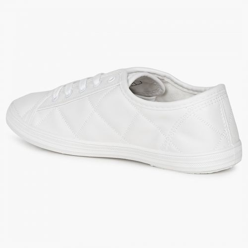 White Quilted Sneakers online