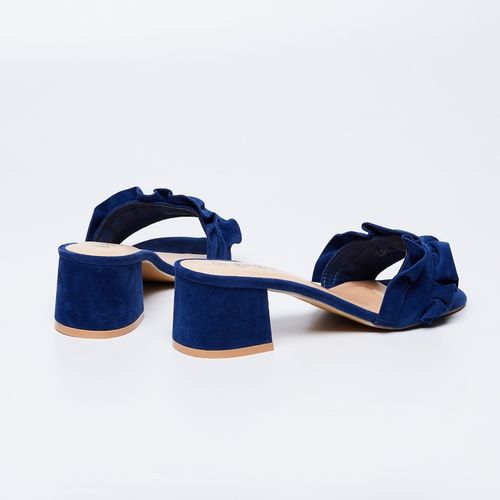 Ginger by Lifestyle Blue Suede Leather Heels