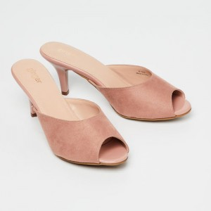 52b269d2749 Ginger by Lifestyle Women Pink Solid Peep Toes