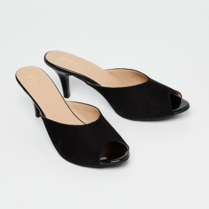 6614ac6e952 Ginger by Lifestyle Women Black Solid Peep Toes