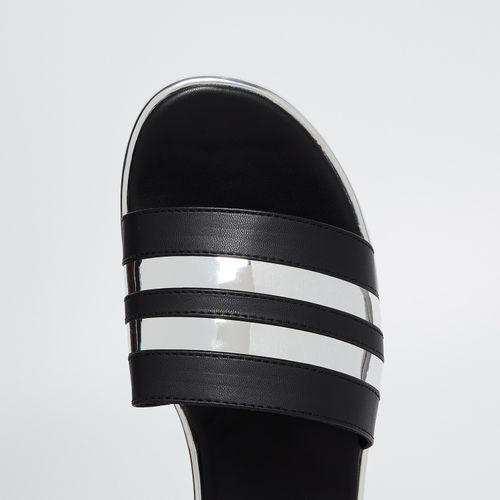 GINGER Metallic Striped Flatforms
