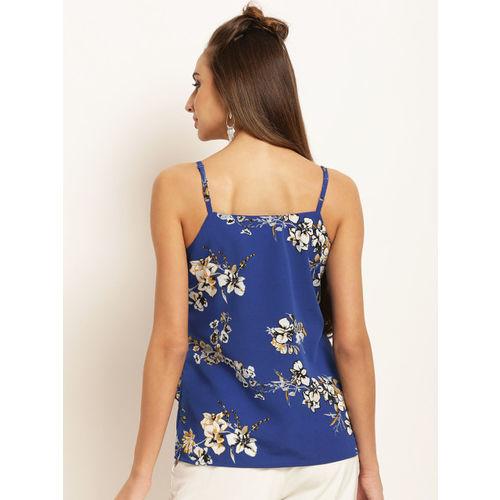 RARE Women Blue Printed Top