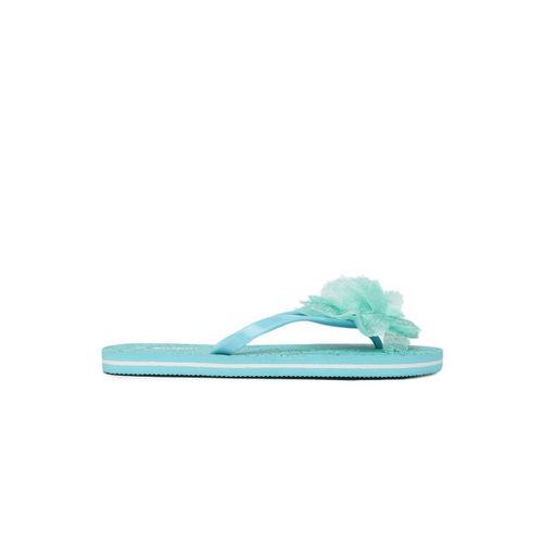 Ginger by Lifestyle Women Green Rubber Slip-on Falt Flip Flops