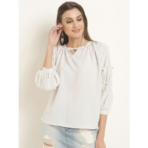 RARE Women White Printed Top