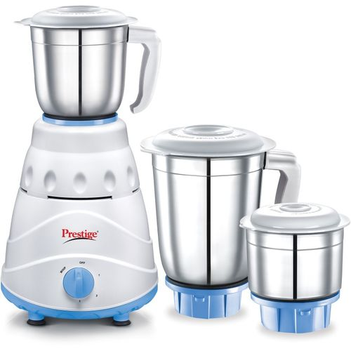 Prestige Atlas 550 W Mixer Grinder(white and Blue, 3 Jars)