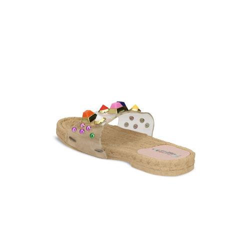 Zachho Women Pink Rubber Slip-on Falt Flip Flops