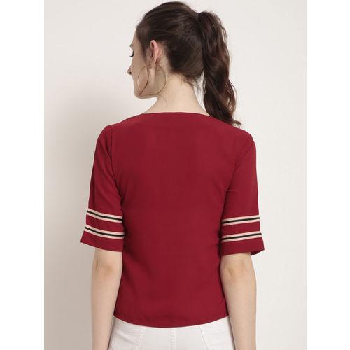 RARE Women Red Striped Top